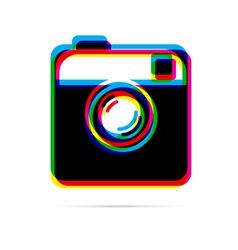 Hipster photo or camera flat icon vector