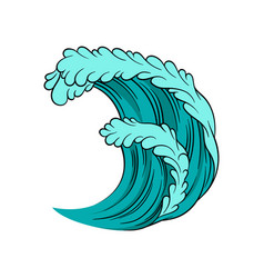 icon of powerful sea wave high ocean tide vector image