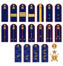 Insignia RF police vector image