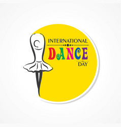International dance day greeting vector