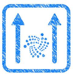 iota send arrows framed stamp vector image