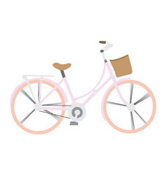isolated vintage bicycle vector image