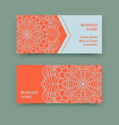 Mandala calling card vector