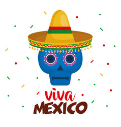 Mexican mask celebration icon vector