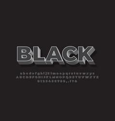 Modern 3d soft black font effect or text effect vector