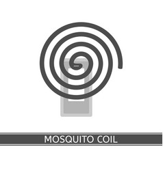 Mosquito repellent coil icon vector