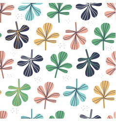 multicolor leaves seamless pattern vector image