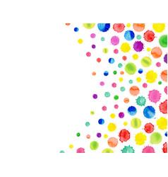 Multicolored watercolor blot template abstract vector