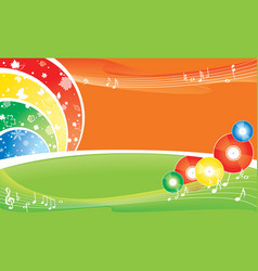 music all the year background vector image