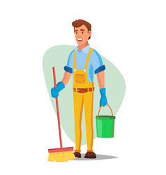 office cleaning service washing machine vector image