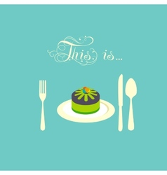 Pie lies on a plate vector