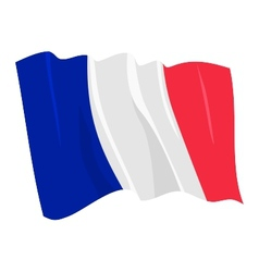 political waving flag of france vector image