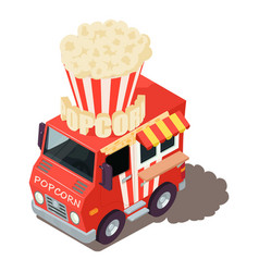 popcorn machine icon isometric style vector image