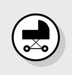 pram sign flat black icon in vector image