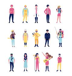 Professionals workwear jobs vector