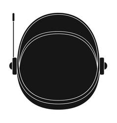 Protective helmet cosmonaut space technology vector