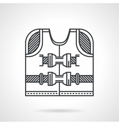 Rescuing vest flat line icon vector image