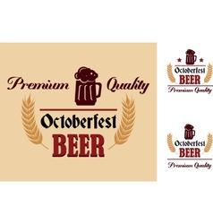 Retro beer label or emblem vector