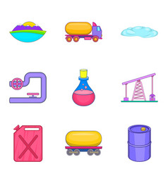 Safe water icons set cartoon style vector