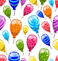 Seamless pattern with cute cartoon balloons 9 vector image