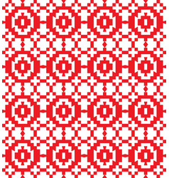 serbian retro pattern vector image