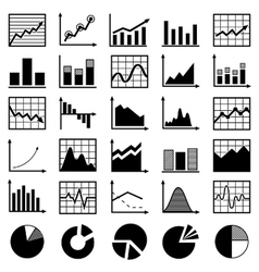 set diagrams and graphs vector image