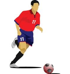 Soccer player vector