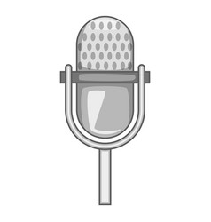 stage microphone icon monochrome vector image