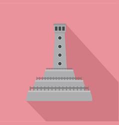 stone lighthouse icon flat style vector image