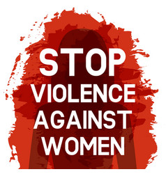Stop violence against women concept vector