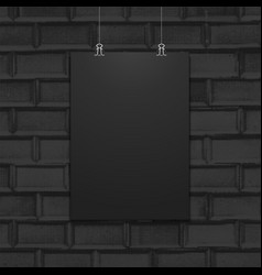 Suspended poster mockup wall texture vector