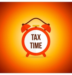 Tax alarm clock vector image