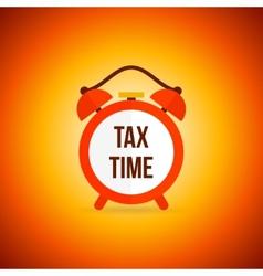 Tax alarm clock vector