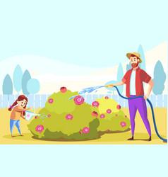 teamwork fatherhood childhood agriculture vector image
