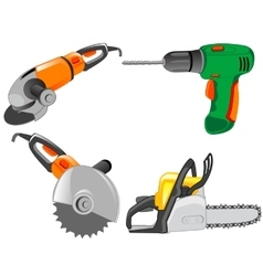 Tools electric for work on house vector