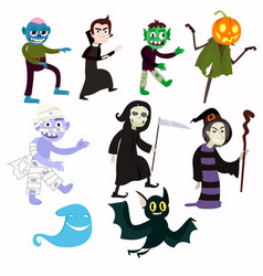 various evil pesonazhie allowing fun to celebrate vector image