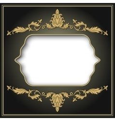 vintage border frame engraving vector image