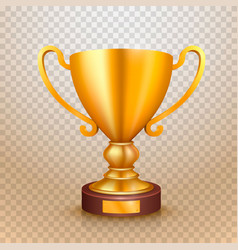 Winner cup gold sign object vector