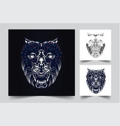 wolf artwork vector image