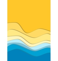 Yellow and blue curve wave line background vector image