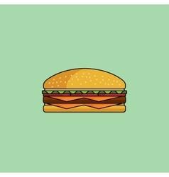 Cute icon cheeseburger vector image