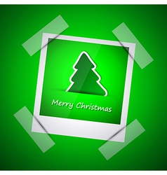 Green picture of merry christmas vector image vector image