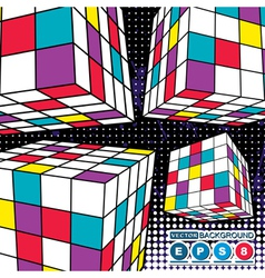 Abstract boxes vector image