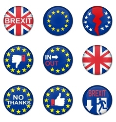 Brexit British referendum concept icons vector image vector image