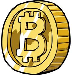 coin bitcoin vector image