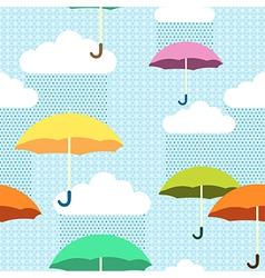 pattern rain color vector image vector image