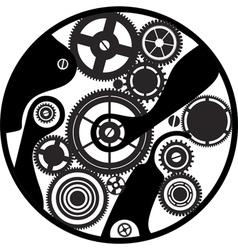 Silhouette clockwork vector