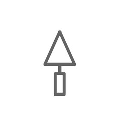 simple putty knife icon symbol and sign vector image