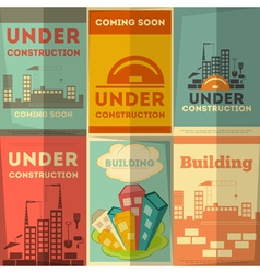 Under Construction Posters Design vector image vector image