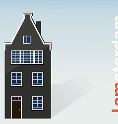 Amsterdam The paper house on a light background vector image